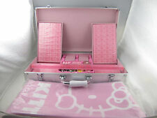 Hello Kitty Mahjong Set Regular Size with Tablecloth Aluminium Case NEW