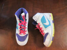 Nike Multi-color Leather Hi Top air Sneakers 8 1/2 334480-154 white basketball