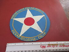WWII USMC MARINE CORPS AUX AIR FACILITY GILLESPIE,CALIF    FLIGHT JACKET PATCH