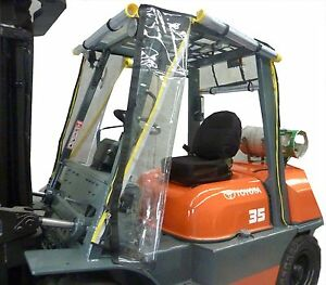 Heavy Duty Universal Standard Size Forklift Cab Enclosure Cover Clear Vinyl