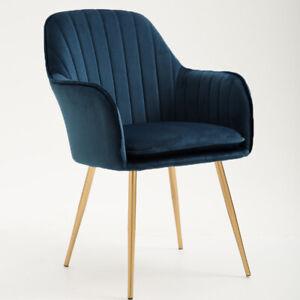 Nordic Style Multicolour Velvet Cushion Seat Backrest 4 Legs Lounge Dinner Chair