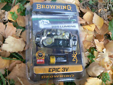 NUOVO Browning BR8650 torcia lampada frontale Epic LED 3V Headlamp 225 lumens