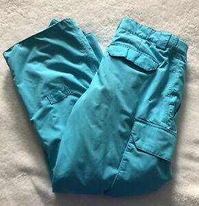 Burton DryRide Snow/Ski Pants- Large: US 14/16- Teal- Adjustable Waist