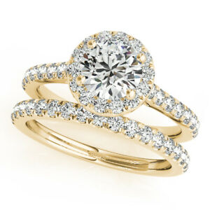 1.40 Ct Moissanite Round Cut Yellow Gold Special Ring 18K Solitaire Girl ring