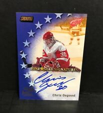 Chris Osgood Stadium Club LONE STAR SIGNATURES Certified Autograph Red Wings