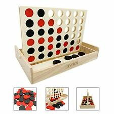 Connect 4  in a Row Outdoor Games Yard Big Huge Four Lawn Wooden Jumbo Gam NEW