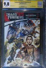 Transformers Movie Adaptation #1__CGC 9.8 SS__Signed by Peter Cullen (Optimus)