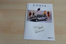 80189) Opel Corsa B Family Prospekt 04/1996