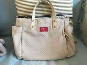 Cath Kidston grab / tote  Bag canvas and leather Excellent condition hardly used