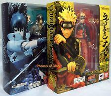 Tamashii Web S.H.Figuarts Uzumaki Naruto and Uchiha Sasuke Combo PVC Figure Toys