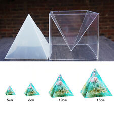 DIY Super Pyramid Silicone Mould Resin Craft Jewelry Making Mold & Plastic Frame