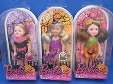 Barbie~Kelly~Chelsea~Halloween~Lot of 3~2014~Cat~Witch~Pumpkin