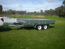 NEW FLAT TOP TRAILER 12FT X 7FT 2800KG GROSS