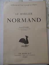 [NORMANDIE]  LE CLERC (Léon) - Le Mobilier normand. 40 pl.1946