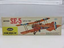 Guillow's BRITISH SE-5 Fighter Balsa Wood Scale Model Kit 104 UNBUILT Vintage