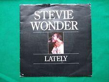 "STEVIE WONDER ""Lately"" 7 inch Ex (1980s 45rpm)"