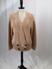 Sonia Rykiel beige chunk button cardigan sweater top womens Large EUC