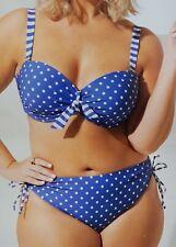 Damen Bikini Set Bademode Badeanzug Blau 44 46 48 50