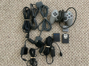 Playstation Accessories. Controller, memory card, power cord, RFU Transmitter