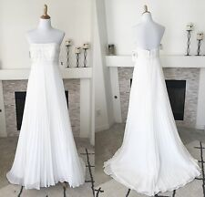 Wedding Dress Strapless Ivory Sweetheart Galina Signature Davids Bridal Size 8