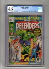 MARVEL FEATURE 1 Origin & 1st App The Defenders Marvel 1971 CGC 6.5 Graded
