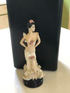 Retro 1950's Lace Ceramic Edwina Hollywood Pottery Spanish Dancer Figurine
