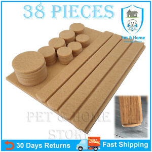 38 Self Adhesive Felt Pads Furniture Wooden Floor Scratch Protector Mixed Sizes