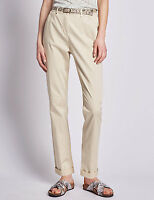 Women's Per Una Roma Rise Cotton Rich Straight Leg Chinos, RRP £39.50  MS35