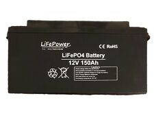12v 150ah Lithium Leisure Battery LiFePO4 storage, solar, boat, caravan, yacht
