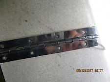 """Stainless Steel 304 Continuous Hinge with Holes 1-1/2"""" OPEN 5FT LONG POLISHED"""