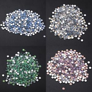 Crystal Opal White Flatback Rhinestones Stones Non Hotfix 3D Nail Art Decoration