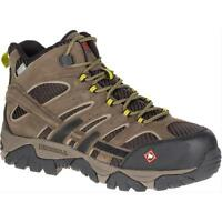 Merrell Newest Men's J15753 Moab 2 Composite Toe Waterproof Safety Work Boots