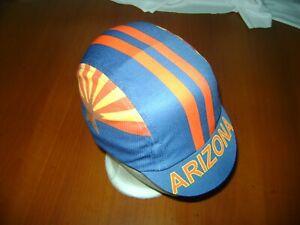 ARIZONA CYCLING CAP AZ HAT CAP POLYESTER SUBLIMATED UV RAY PISTA FIXED PHOENIX