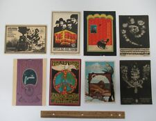 (8) Vintage Bill Graham Family Dog Concert Handbill Postcards Pink Floyd yz6462