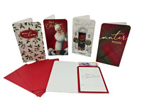 SANTA XMAS GIFT ** 4 PACK HAND CRAFTED CHRISTMAS MONEY WALLETS CUTE DESIGN NEW