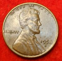 1958 D Error 8 /7 the 7 is rotated counter clockwise Lincoln Wheat Cent #43