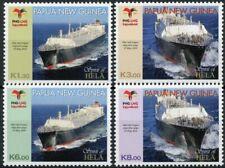 More details for papua new guinea png ships stamps 2014 mnh spirit of hela lng exxombil 4v set