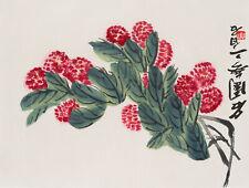 Qi Baishi (China, 1864-1957), Pinke Blüten, 1953, Farbholzschnitt