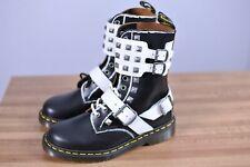 New Dr. Martens 1490 Joska Stud Boots Black White Women's 7