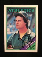 TONY LARUSSA 1988 TOPPS AUTOGRAPHED SIGNED AUTO BASEBALL CARD 344 A'S