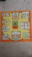 Clue Game Board Only Vintage Parker Brothers 1963 Craft Toy