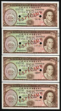 MACAO CHINA 4 DIFF 5 PATACAS P54 1976 *SPECIMEN* SHIP UNC CURRENCY PORTUGAL NOTE