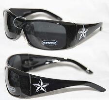 Herren Sonnenbrille mit rot weiß o. gold Stern Biker Brille schwarz Star 646