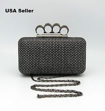 Bling Bling Rectangular Rhinestones Clutch Party Purse Box Case Evening Bag
