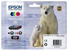 Genuine Epson 26 Polar Bear Multipack Claria Premium Ink Cartridge C13T26164010
