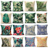 Classical Floral Tropical Plant Leaf Cushion Covers Waist Pillow Case Home Decor