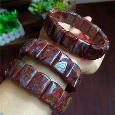 Natural Red Pietersite Gemstone Woman Stretch Rectangle Beads Bracelet 18×13mm