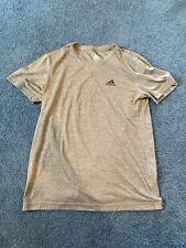 Adidas Climalite Men's Basic T Shirt Heathered Gray/Grey Size Medium