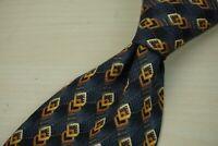 Ermenegildo Zegna Slate Gray Gold 3D Geometric Box 100% Silk Tie