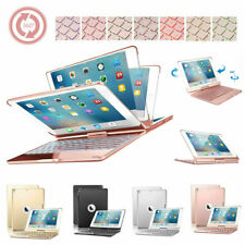 """360 Rotate Backlit Bluetooth Keyboard Smart Case For iPad 9.7"""" 5/6th Pro Air 2/1"""